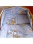 2-dílné ložní povlečení New Baby 90/120 cm modré s medvídkem